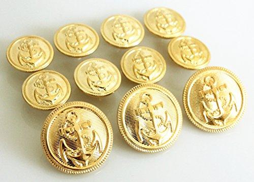 YCEE Pieces Metal Blazer Button