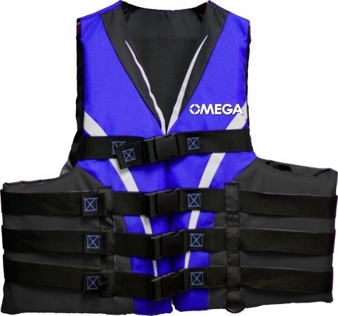 Omega 40401-L/XL Type III Extreme Sport Life Vest (Blue, Large/X-Large)