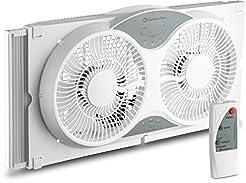 BOVADO USA Twin Window Cooling Fan with ...