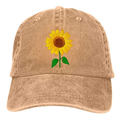 (Waldeal Sunflower Clipart Low Profile Adjustable Structured Baseball Hat)