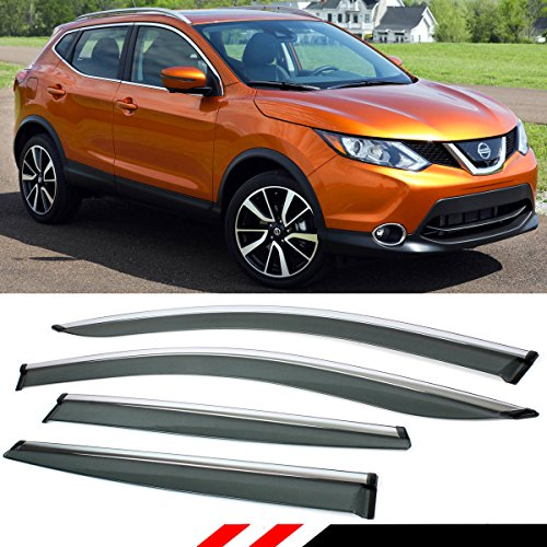 nissan rogue window deflector - 6