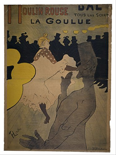 Henri Toulouse Lautrec - Moulin Rouge - Small - Semi Gloss - Unframed Vintage Wall Art Poster Picture Giclee Artwork Modern Contemporary & Fine Art Print ()