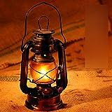 Traditional classic old Kerosene Lantern Lamp,Country Style Black Kerosene Lantern for Patio Garden Porch Decoration,Oil Burning Lantern(Black)