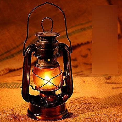 Kerosene Porch Lamp Kerosene Lantern HoneyCare Black Patio Oil Traditional Oil Style Lantern Old Lantern Garden for Burning Classic Country Lamp fyYbg67