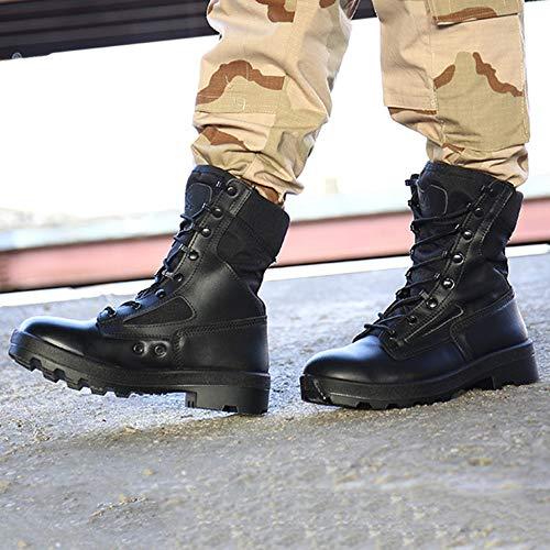 Black Uomo E Combattimento Stivali Scarpe Scarpone DSFGHE Tattici Alti Alpinismo Outdoor Militare Stivali Traspiranti Stivali Speciali Comode Forze Armati da Deserto da Escursioni wRfSBqIR