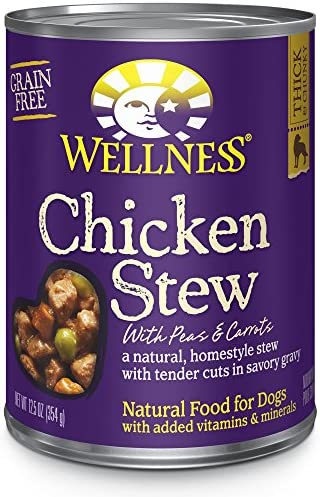 Wellness Chicken Stew with Peas Carrots Canned Dog Food
