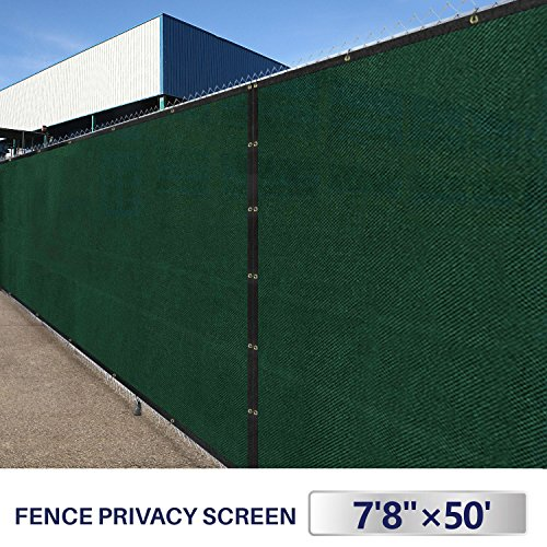 Outdoor Patio Privacy Fence Screen 8x50 Yard Windscreen Chain Link Fencing  Cover Materials With Brass Grommets Landscape Shade Cloth Garden Plants UV  ...