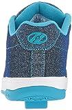 Heelys Girls' Split Sneaker, Pewter/Blue, 6 Medium