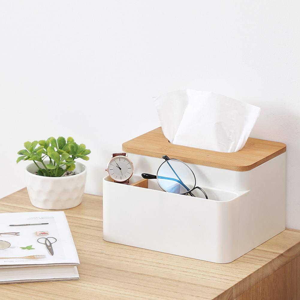 Coseyil Taschentuchbox Halter Abdeckung Holz Abdeckung Desktop Aufbewahrungsbox Papier Handtuchspender Halter geeignet f/ür Zuhause und B/üro Dekoration beige