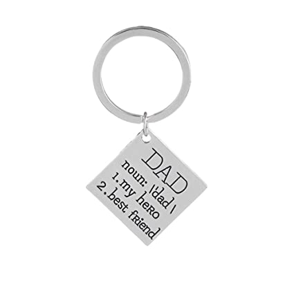 Amazon Fathers Day Gifts Dad My Hero Best Friend Pendant Keychain Keyring Birthday For Daddy From Daughter Son Office Products