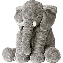Rainbow Fox Grey Elephant Stuffed Animals Plush Toy Animals Cushion(Gray)