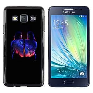 LECELL--Funda protectora / Cubierta / Piel For Samsung Galaxy A3 SM-A300 -- Bodypaint Black Universe Stars --