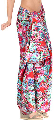 LEELA sarong o997 il donne coprire costume delle beachwear da bagno LA le tra Rosa bikini spiaggia isole più crociera involucro v1xd7q