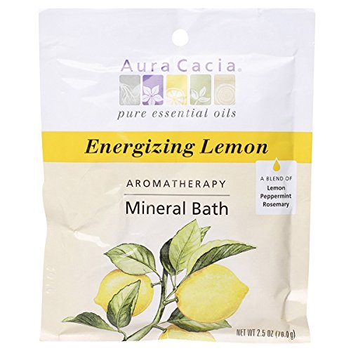 Aura Cacia Energize Aromatherapy Mineral Bath Salt, 2.5 Ounce - 6 per case.