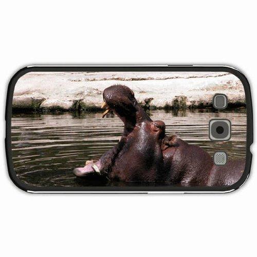 Samsung Galaxy S3 Case Black Back Cover Customized Design Hippo ()