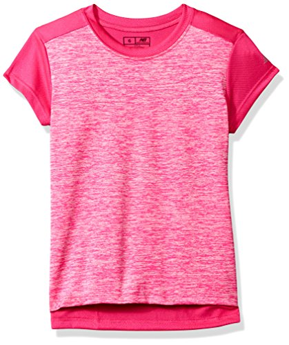 New Balance Kids Big Girls' Short Sleeve Performance Tee, Pink Glow, 14