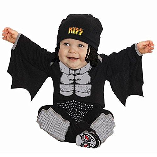 Kiss The Demon Onesie Costume, Black, 6-12 Months