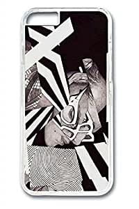 Black White Slim Soft Cover for iPhone 6 Plus Case ( 5.5 inch ) PC Transparent Cases by ruishername