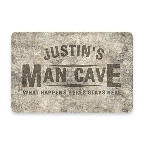 Man Cave Signs Personalized Uk : Personalized concrete grunge man cave metal room sign