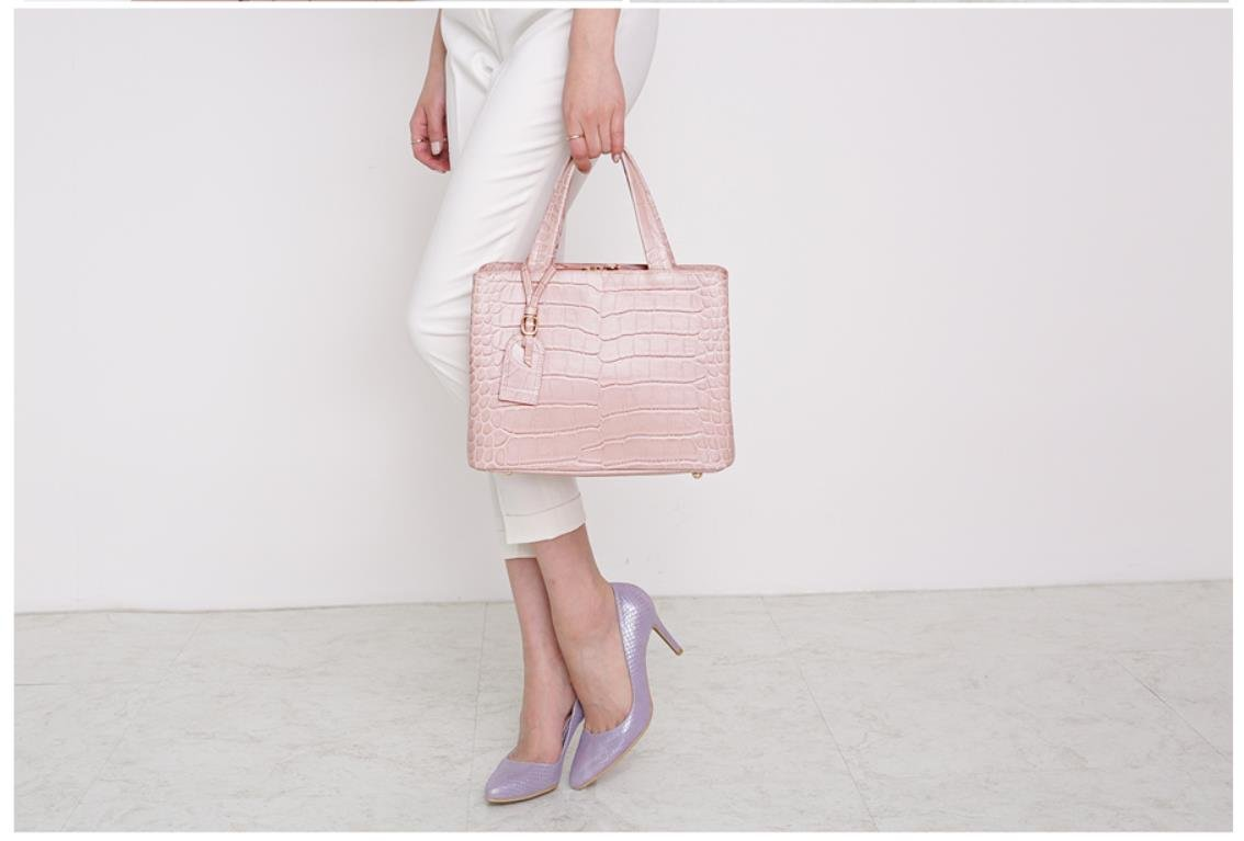 Bellina Wani Tote Shoulder Bag BB1218 (Pink) by Pristine&BB (Image #6)
