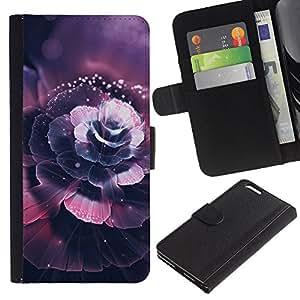 Protector de cuero de la PU de la cubierta del estilo de la carpeta del tirón BY RAYDREAMMM - Apple Iphone 6 PLUS 5.5 - Hermosa flor de cerezo