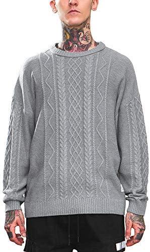 [ビヨンドユー] ニット セーター メンズ フィッシャーマンニット ケーブル編 ざっくり 無地