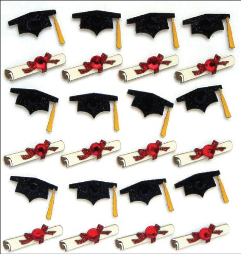 Jolee's Boutique Dimensional Stickers, Graduation Caps and Diplomas]()