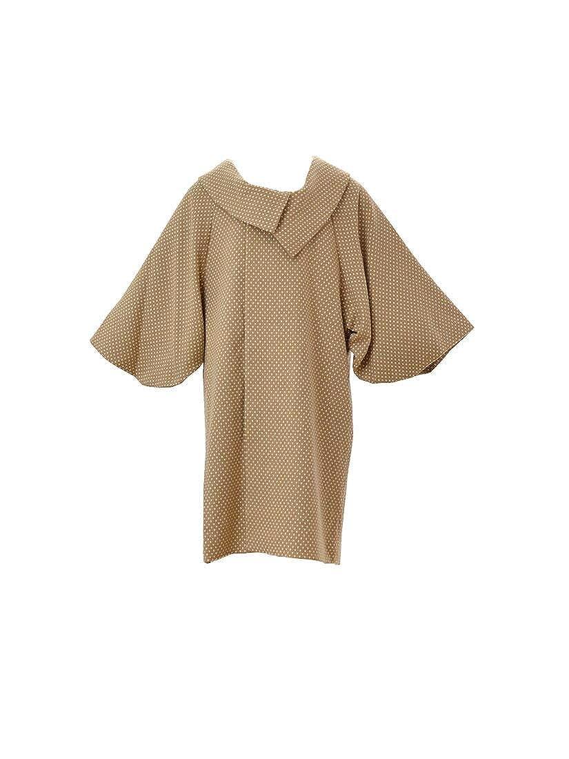 和装コート アンゴラ混ウール着物コート ロール衿 ドット柄 仕立て上がり フリーサイズ 日本製 レディース B0183E5GPS 05 キャメル 05 キャメル