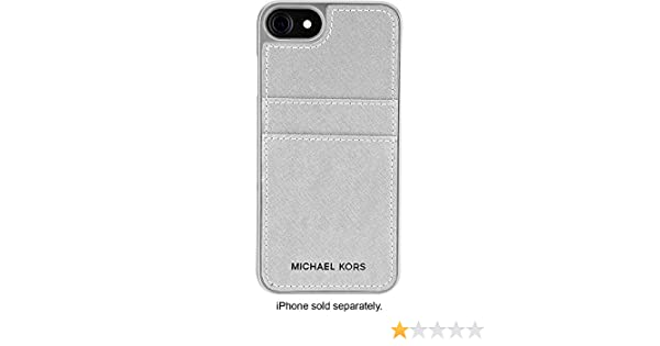 7a5e317c732c4a Amazon.com: Michael Kors Saffiano Pocket Case for Apple iPhone 7 - Silver: Cell  Phones & Accessories