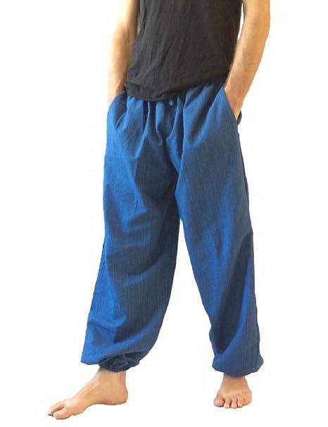 Amor Calidad Baggy – Pantalones de escalada para hombre talla única algodón harén pantalones hippie Boho
