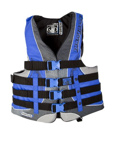 Nylon Body Vest Glove - Body Glove Men's US Coast Guard Approved Type III Torque 2 Nylon PFD Life Vest (Black/Royal, X-Large)
