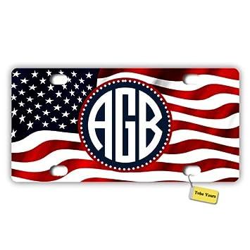 Amazon.com: Tobe Yours Personalized Custom Name USA American ...