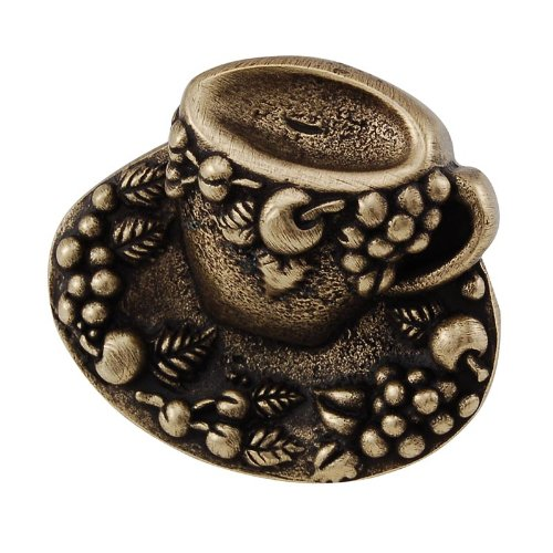 Antique Brass Vicenza Designs K1062 Cappuccino Cup Knob Large