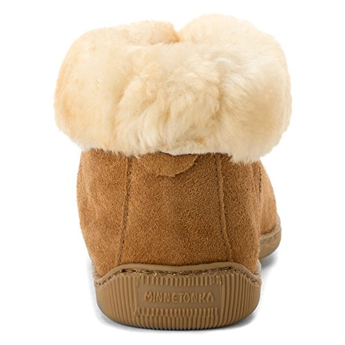 da pecora Minnetonka marrone Stivali di uomo pelle Caviglia classici di chiaro Beige 48 S4q0B