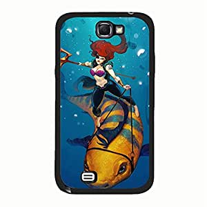 Hispter Samsung Galaxy Note 2 N7100 Cover,Ariel The Little Mermaid Phone Case Popular Custom Anerican Movies Series The Little Mermaid Pricess Shell Case Cover-Hope Store
