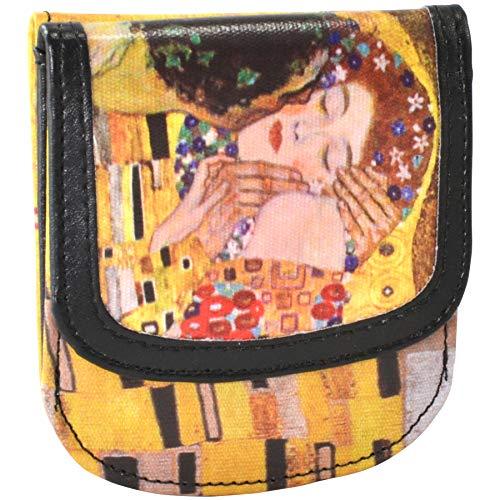 Taxi Wallet Klimt Kiss Small Folding VEGAN Minimalist Card Coin Front Pocket Wallet for Men & Women