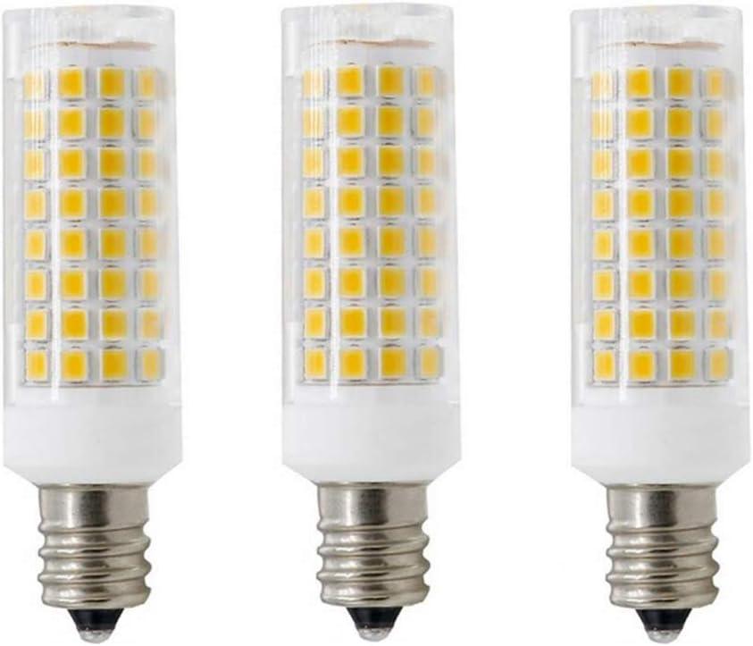JKLcom E12 LED Bulbs Dimmable 9W Equivalent to 100w Halogen Bulbs Replacement E12 Candela Base,102 LED 2835 SMD Pack of 3 110V Warm White 3000K LED Corn Light Bulbs,Dimmable