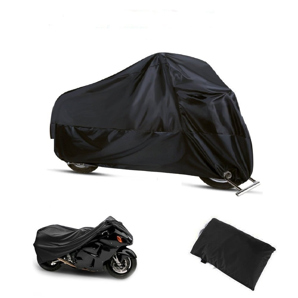 1044149 inches Protective Cover,with Stainless Steel Lock-holes,Storage Bag,Dust-proof Water-proof et UV Protective Perfect Gift Motorbike Cover,190T Waterproof UV 50