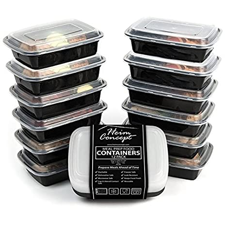 Amazon.com: Heim Concept - 12 recipientes de comida con ...