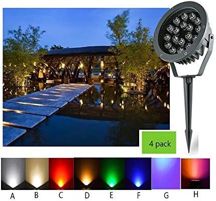 AMDHZ 落地灯 LEDデッキライト防水IP65 220V風景芝生パティオ、7色、9電力、4パック (Color : F, Size : 24W)