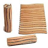 Luxury Wood Shower Spa Bath Mat Folding Sauna Bathroom Floor – Large (27.6 x 19.7in) | Unique Handcrafted Design | Anti-Mold | Non-Slip | Indoor and Outdoor | 100% Natural Organic Premium Bamboo