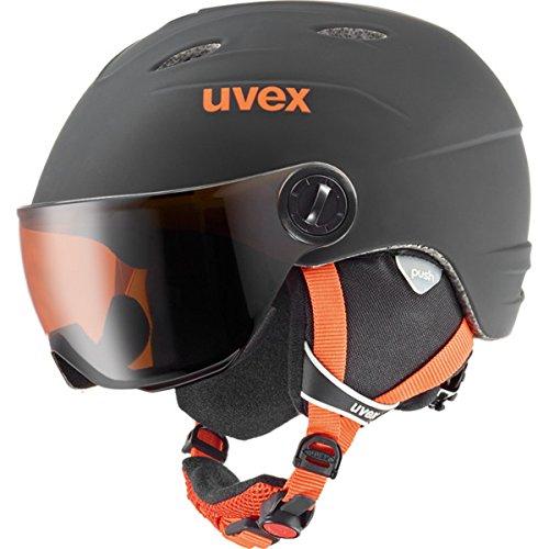- Uvex Junior Visor Pro Winter Sports/Ski Helmet/Goggle Set - 566191 (black-orange mat - 54-56)