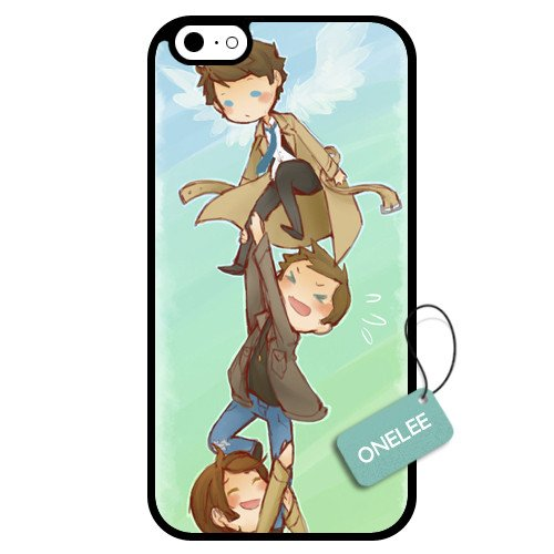 Onelee(TM) - Customized Cartoon Supernatural TPU Case Cover for Apple iPhone 6 - Black 13
