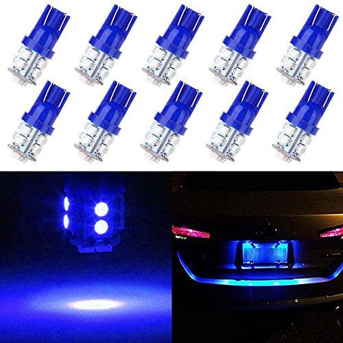 License Plate Lights,cciyu Blue T10 LED Bulb,168 194 Light ()