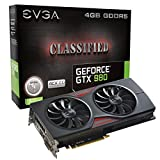EVGA GeForce GTX 980 4GB CLASSIFIED GAMING ACX 2.0, 26% Cooler and 36% Quieter Cooling Graphics Card 04G-P4-3988-KR