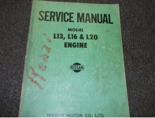 1968 NISSAN MODEL L13 L16 L20 ENGINE Service Shop Repair Manual BOOK OEM FACTORY