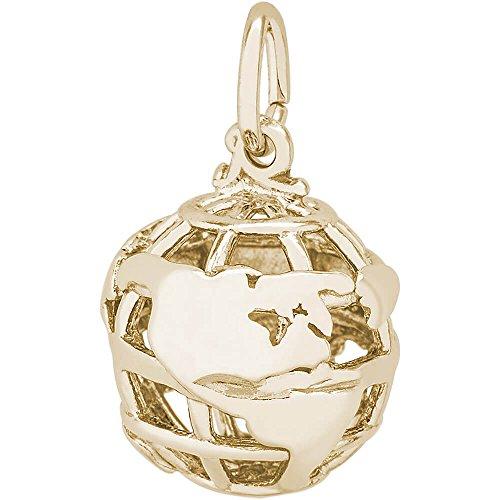 Yellow Gold Globe Charm (Rembrandt Charms Globe Charm, 14K Yellow Gold)