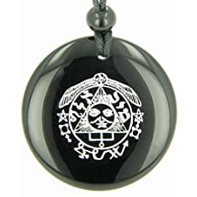Success in Work and Wealth Talisman of Sun Black Agate Magic Pendant Necklace