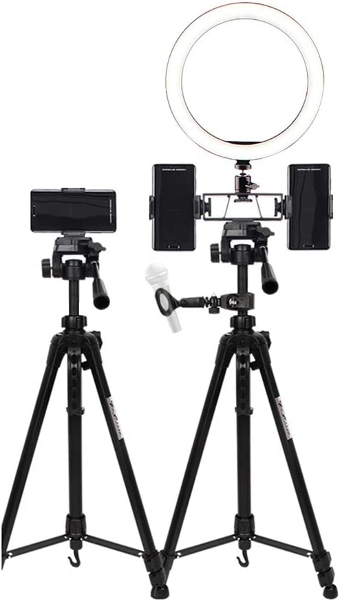 Dimmable Makeup Ring Light for Photography LED Ring Light 10 with Tripod Stand Shooting Dimmable 3 Light Modes Selfie Makeup Light with 3 Cell Phone Holder for Live Streaming /& YouTube Video