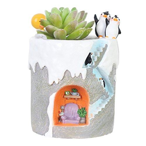 Best Creative Dolls - Segreto Creative Penguin Family Plants Pots